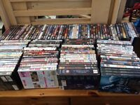 About 130 DVDs