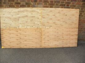 Two sheets of Plywood.