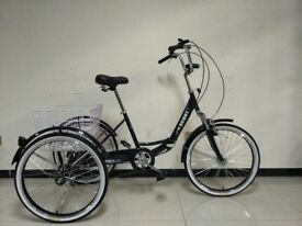 """Adults tricycle, folding frame, 24"""" wheels, 6-speed shimano gears, SCOUT , adult trikes"""
