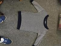 Next women's blue and white knitted jumper Size 12 UK