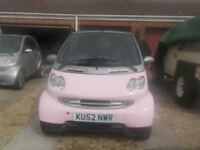 52 plate Smart ForTwo Cabrio in Pink