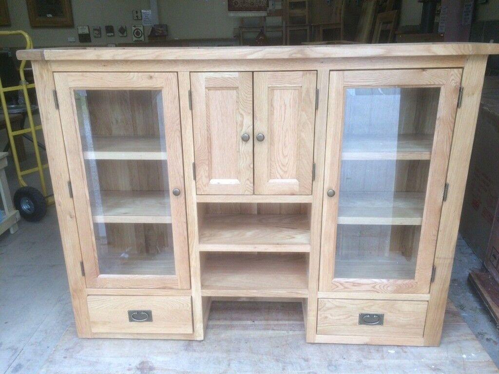 Vancouver Oak Dresser Top Hutch Width 160cm Besp Furniture