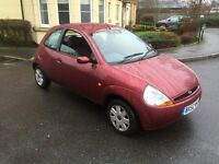 FORD KA 1.3 PETROL,12 MONTHS MOT,LOW MILEAGE,2 KEYS.