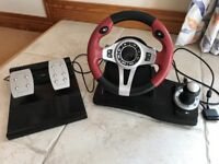 Logic 3 TOPDRIVE GT- steering wheel and pedals