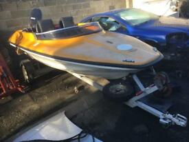 Shakespeare speed boat very quick 70hp tohatsu engine not for faint hearted