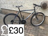 Selection of Gents Mountain Bikes from £30 - £50 Gents or boys hardtail mountain bike male