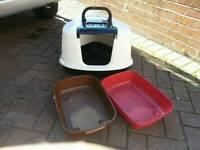 3 cat litter trays