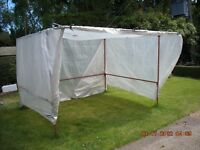 Market gazebo, 10ft x 8ft hardly used good condition, with cover