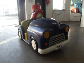 PADDINGTON BEAR IN HIS CAR WITH PERSONAL NUMBER PLATE OLD FAIRGROUND RIDE NO WORKINGS,