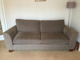M&S 2 x 3 Seaters and footstool