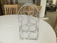 Lovely Chrome Wine Rack in Very Good Condition - Only £1