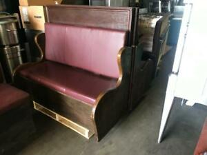 6 assorted matching Restauarnt booth seat ( excellent condition )