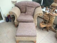 Conservatory 2 Seater Sofa,Chair and Footstool