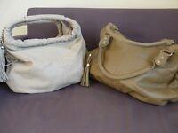 2 x BRAND NEW Leather Look Handbags