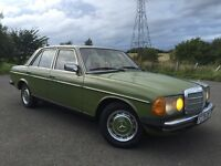 Classic LHD Mercedes W123 200D diesel manual, ideal for your French, Spanish holiday villa
