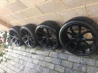 "18"" black alloys - 5x112 - golf seat Audi A3 vw"