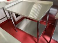 Professional Catering Equipment / Commercial Kitchen - Stainless steel sinks, tables and prep tables