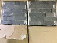 Grey slate mosaic wall tiles