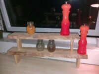 reclaimed wooden spice rack
