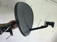 Sky dish VGC with fittings and iview HD receiver box
