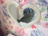 Pretty Heart Mirror - Painted in Pebble Chalk Paint