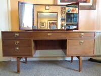 G Plan, Vintage Teak Dressing Table with Mirror