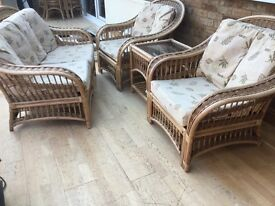 2 Seater Sofa, 2 Chairs, Coffee table including cushions