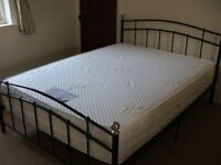 Deluxe Orthopaedic Latex/Pocket Spring Double Mattress AND bed frame. AN ABSOLUTE BARGAIN