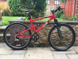 Gt dxc 4.0 full suspension mountain bike will post