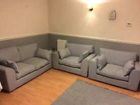 WOW x1 sofa plus x2 snuggler chairs