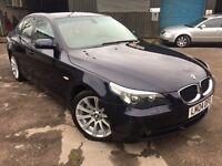 BMW 525d SE, 2.5 Diesel, 2004/04 Reg, Sat-Nav, Leather, NEW MOT, 6 Speed Auto, 4 Dr Sal, Orient Blue