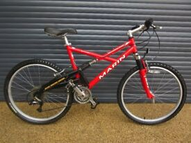 MARIN QUALITY SHORELINE LIGHTWEIGHT ALUMINIUM FULL TERRAIN BIKE IN EXCELLENT USED CONDITION..