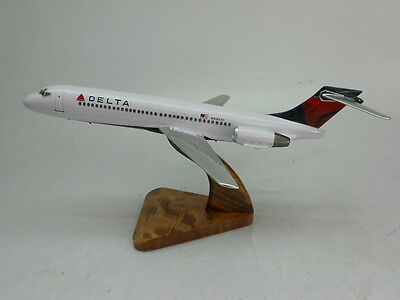 Boeing B-717 Delta Air B717 Airplane Desktop Kiln Dried Wood Model Regular New, used for sale  Shipping to Canada