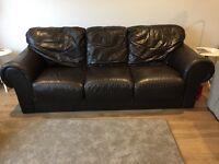 Designer sofitalia leather sofa 3 seater