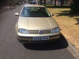 VW GOLF E , 3 DOOR HATCHBACK, 1390CC, PETROL, COLOUR-BEIGE, NO M.O.T.
