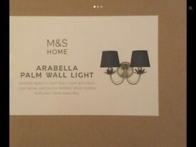 Wall light brand new sealed in box RRP £69 from marks and Spencer's