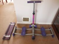 LEG MASTER EXERCISE Machine easy to use to TRIM your Lower Body -Instructions- Good Condition