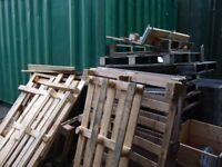 Pile of unwanted pallets