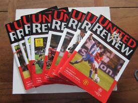 8 x Manchester United Football Programmes