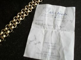9 CT GOLD 100 GRAM BELCHER CHAIN 24IN LONG ONLY 3 MONTHS OLD UNWANTED GIFT