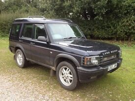LAND ROVER DISCOVERY 2 TD5 DIESEL AUTOMATIC, 2000 X REGERSTRATION, MOT 25TH JUNE 2017, 7 SEATS.