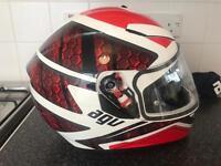 AGU AGV K-3 SV Pulse Helmet White/Black/Red