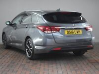 HYUNDAI I40 1.7 CRDI BLUE DRIVE SE NAV BUS [Leather, Reverse Camera] 5DR DCT Auto (silver) 2016