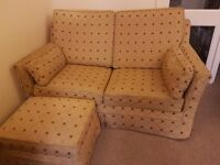 2 seater sofa bed and storage foot stool
