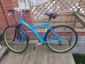 B'twin Unisex Mountain Bicycle with mudguards