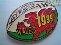 VINTAGE 1999 WALES RUGBY WORLD CUP PIN BADGE