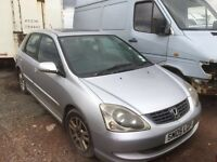 Honda Civic petrol manual 2005 year spare parts