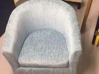 5 x tub chairs 3 cream 2 blue