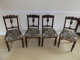 Antique Mahogany Chairs X 4