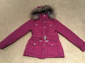 Girls winter jacket Age 9